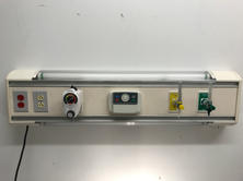 Oxygen panel with overbed lights