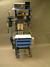 Anesthesia Machine with BG monitors