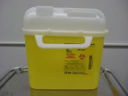 Large yellow needle dispenser