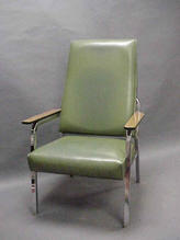 Green leather hight back chair