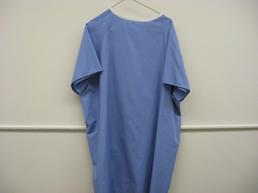 Blue patient gown