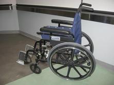 Modern blue wheelchair