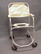 White toilet chair