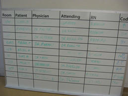 Extra large patient white board