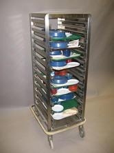 Single meal tray cart