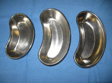 Stainless steel kidney shape bowls