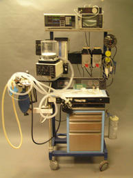 Anesthesia Machine with sim monitors