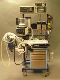 Anesthesia Machine with sim monitors