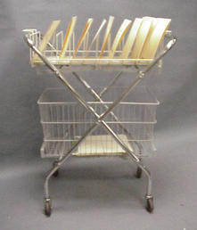 File cart with bottom basket