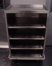 Stainless steel with four shelves cart