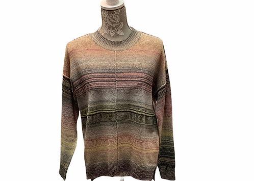Blush Pink Multi Colored Sweater
