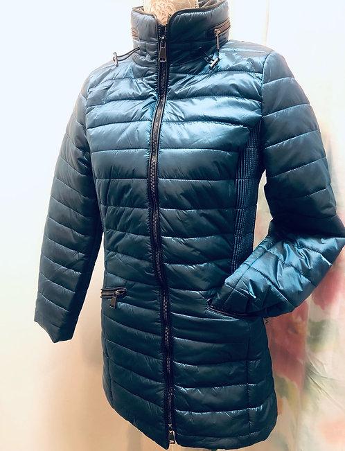 Long Turquoise Puffer jacket