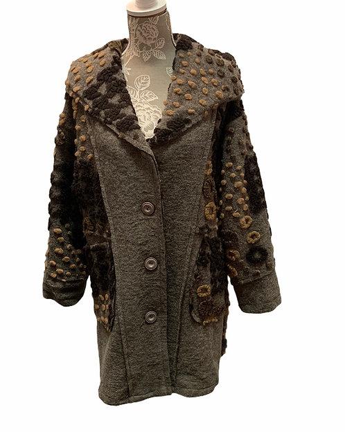Multi Textured Wool Blend Coat
