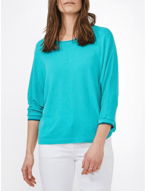 Knit Top in Turquoise or Ruby