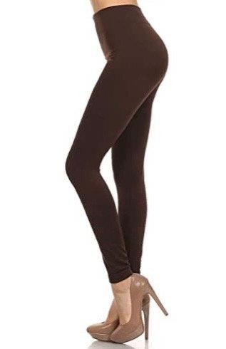 Mopas Seamless Fleece Leggings Coffee Colour