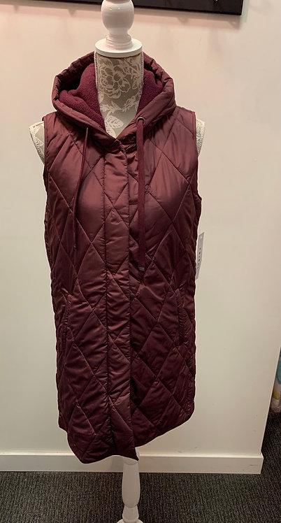 Tribal wine colour long winter vest