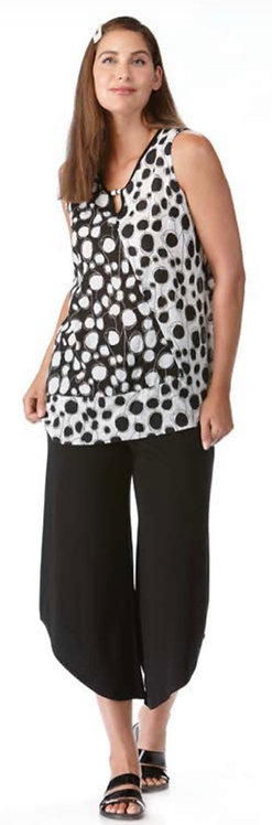 Black & White Polka Dot Top