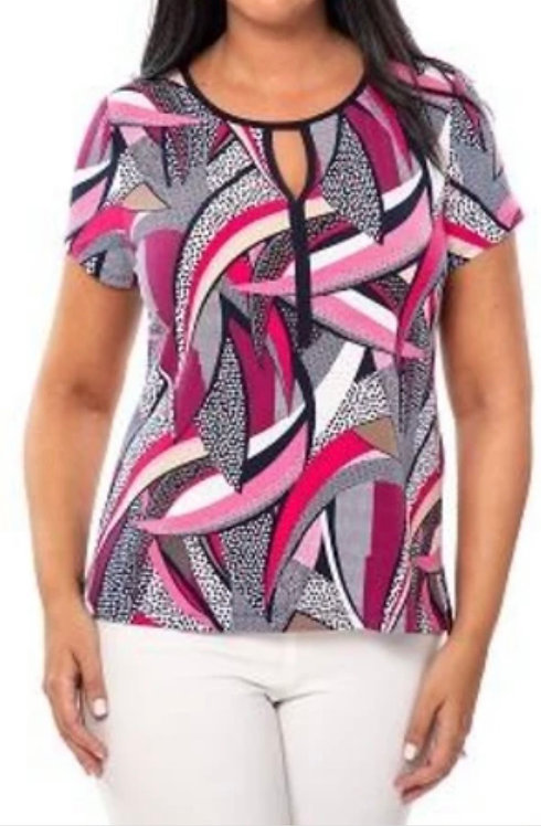 Pink Patterned Top