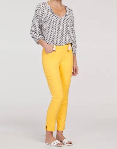 Lemon Colored Pull On Pants