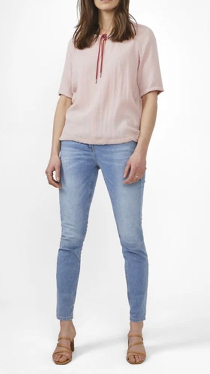 Ruby Blush Top with Tie Front