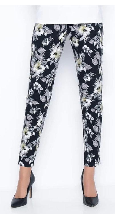 Dark Floral Ankle Pants