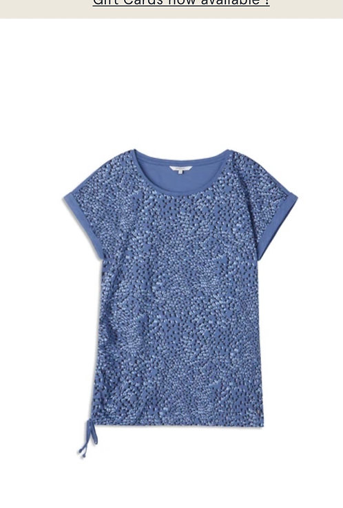 Airy Blue T-Shirt with Bottom Tie