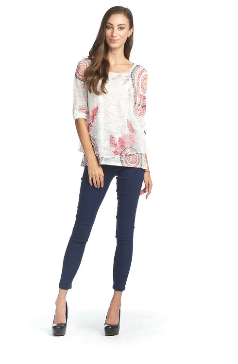 Layered Medallion Lace Top