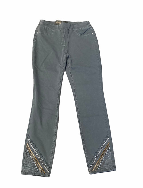 Grey Jeggings with Ankle Embellishments