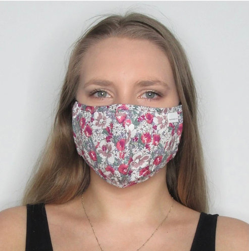 White/Pink Multi Colour Floral Mask