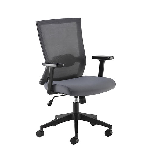 Active mesh office chair with grey air mesh seat