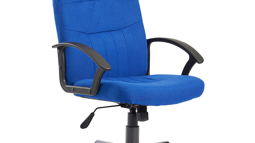 Ascoli Blue fabric managers chair