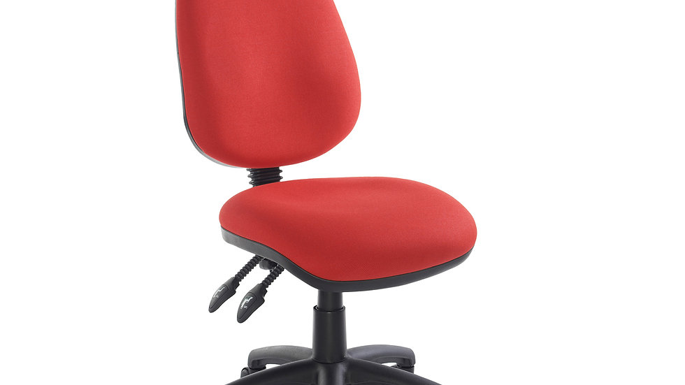 Fabric operator chair with no arms - 5 colours available