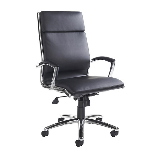Florenzi high back executive chair - black faux leather