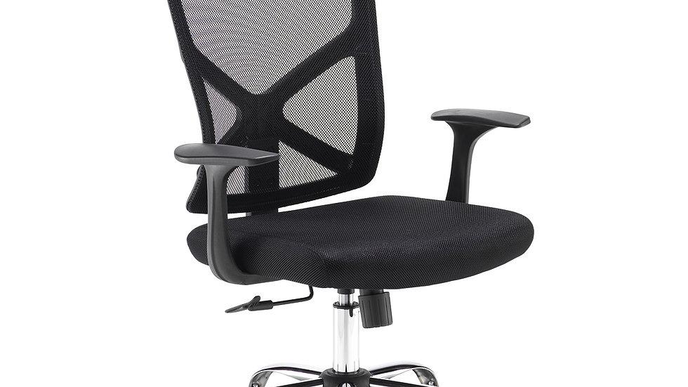 Look black mesh back operator chair
