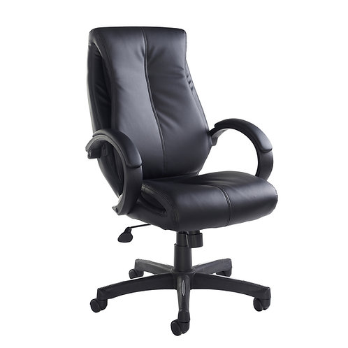 Nantez high back managers chair - black faux leather