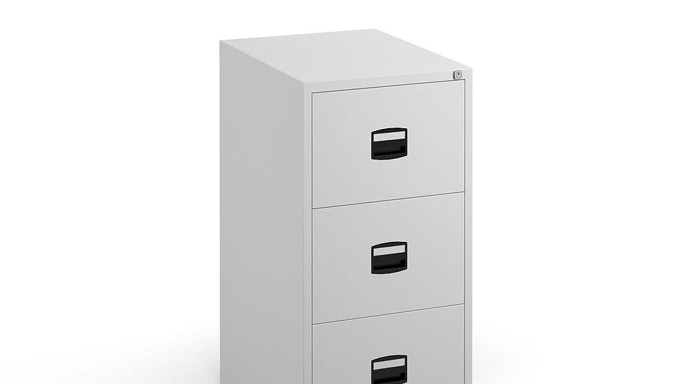 Steel 3 drawer filing cabinet 1016mm high