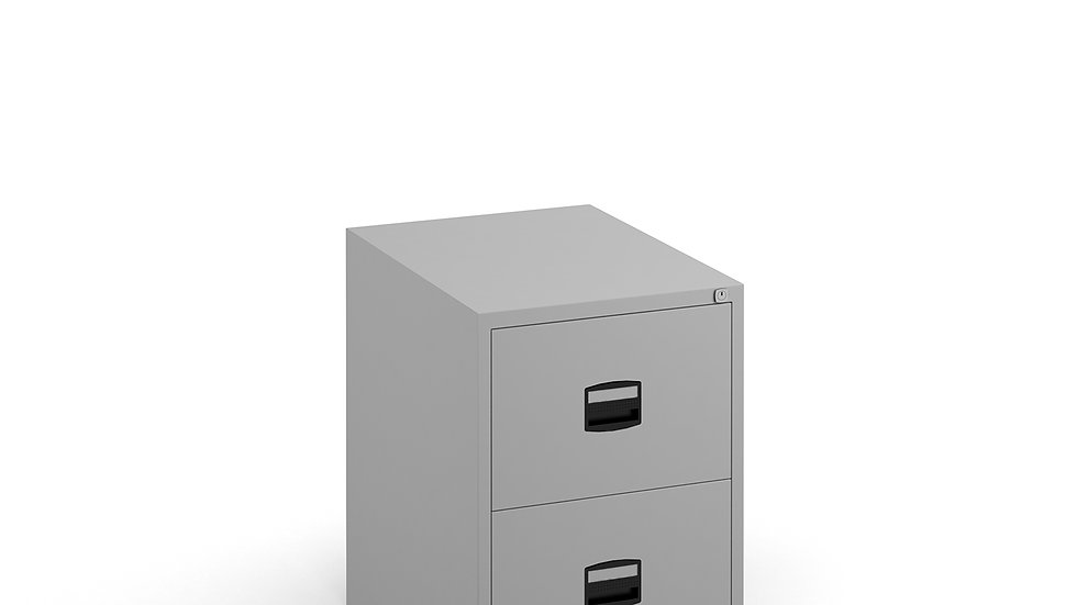 Steel 2 drawer filing cabinet 711mm high