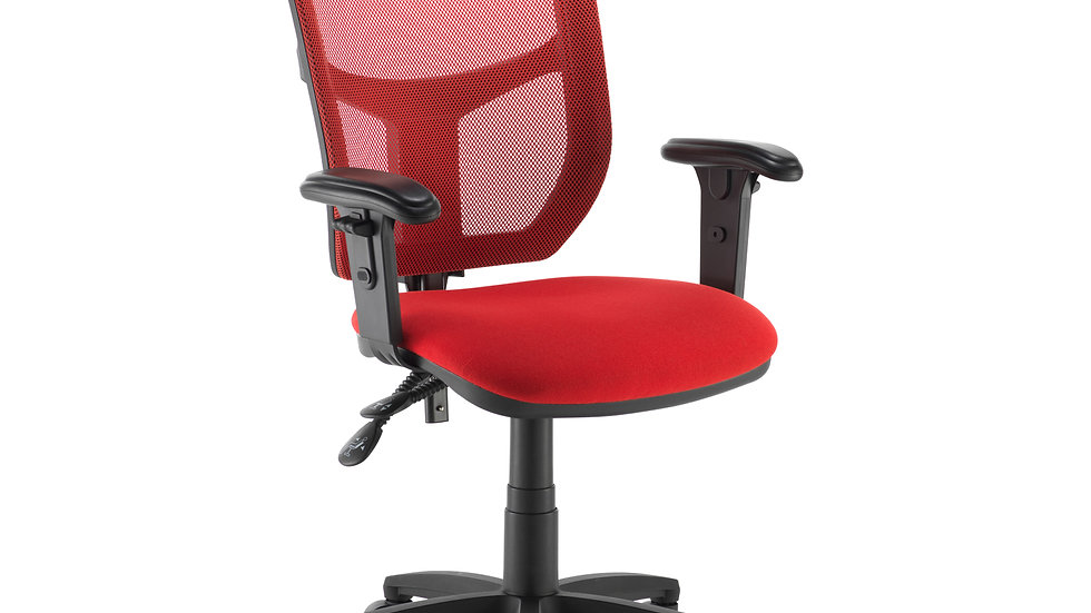 AF Coloured Mesh Chair with Adjustable arms