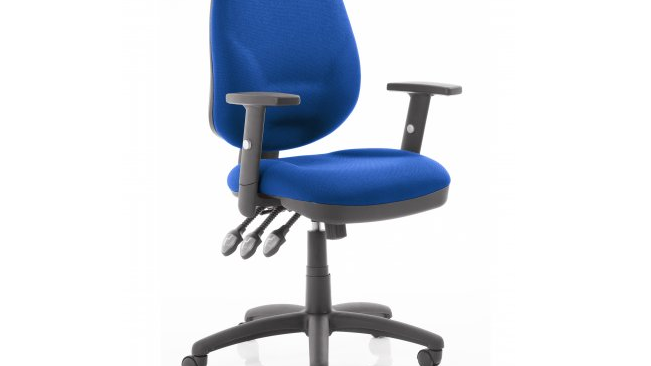 Fabric XL Task Operator Chair with Height Adjustable Arms