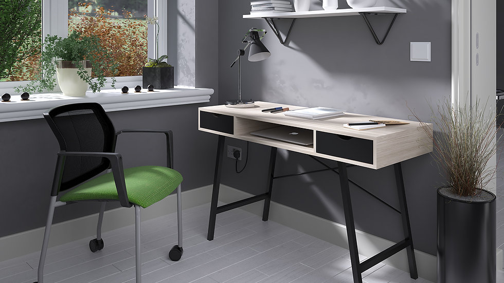 Crescendo home office workstation with pull out drawers