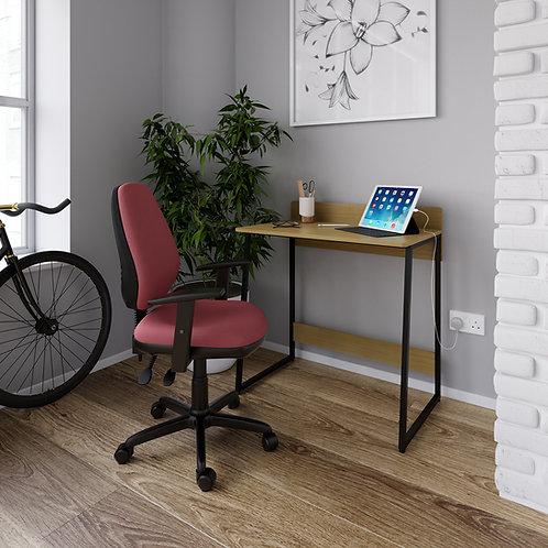 Kyows home office workstation- summer oak with black frame