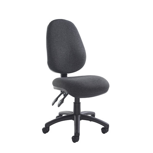 Fabric task office chair - charcoal