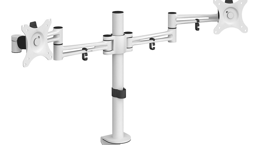 Double flat screen monitor arm