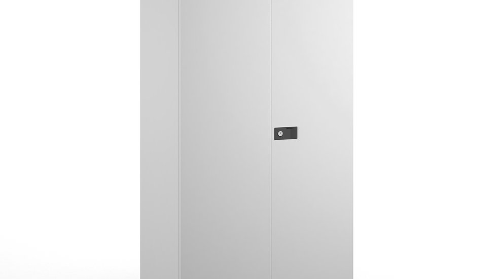 1806mm high steel cupboard with 3 shelves