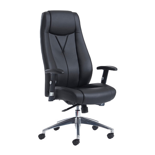 High back executive chair - black faux leather