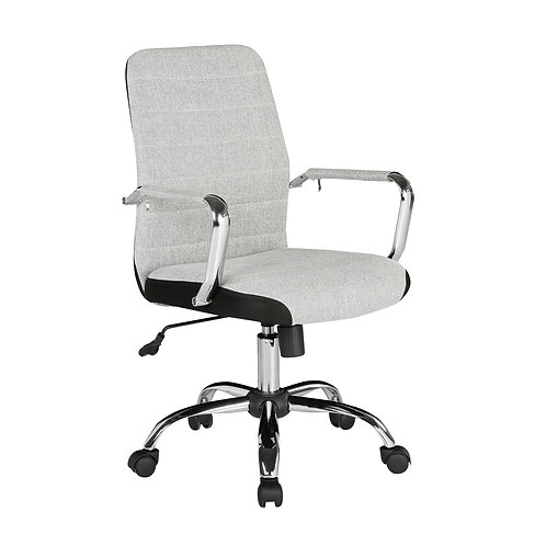 Tem300 high back fabric operators chair with mesh trim - grey