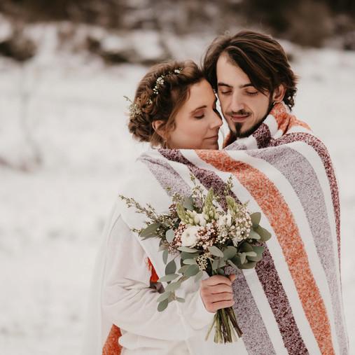 Lucie & Vaïk-Ian - Un elopement dans la neige (Inspiration)
