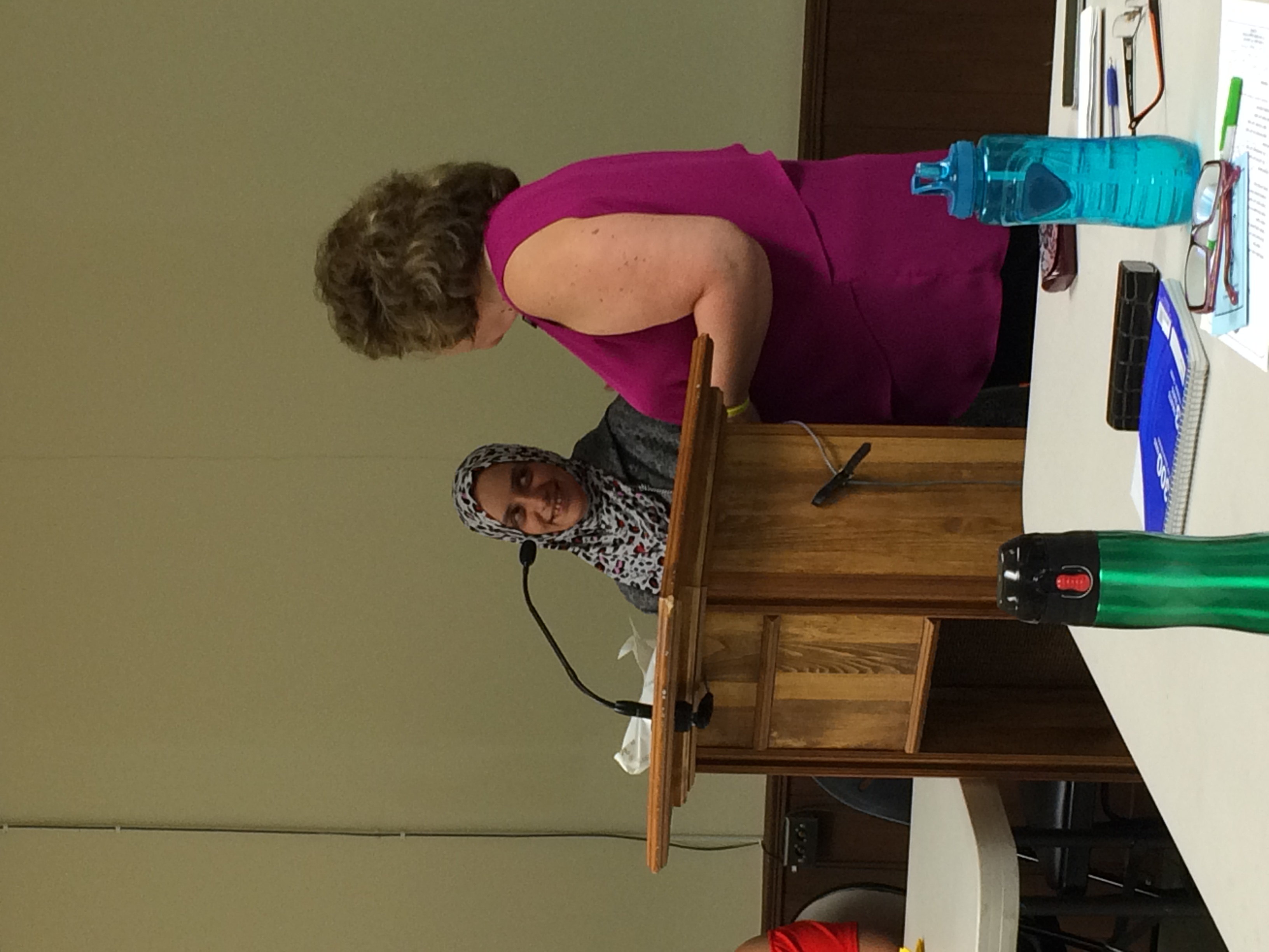 Radia Maree at CWL Meeting