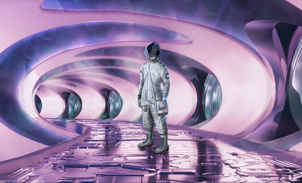 Corridor in the spaceship