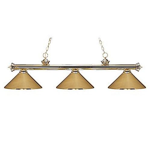 Brass 3 Shade Billiard Lamp